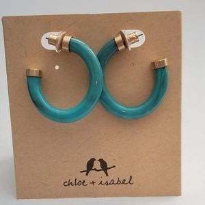 Chloe + Isabel Jewelry - Resin hoop earrings